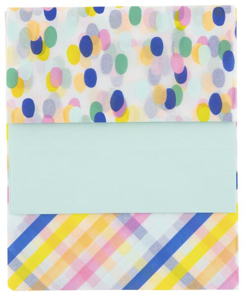 3 feuilles de papier de soie - 70x50 - 14700334 - HEMA