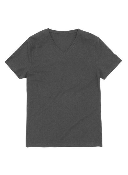 men's T-shirt grey melange grey melange - 1000006012 - hema