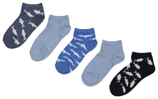5-pack children's ankle socks blue blue - 1000018035 - hema