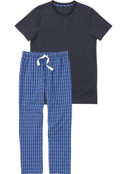 Waesche für Frauen - HEMA Herren Pyjama Dunkelblau  - Onlineshop HEMA