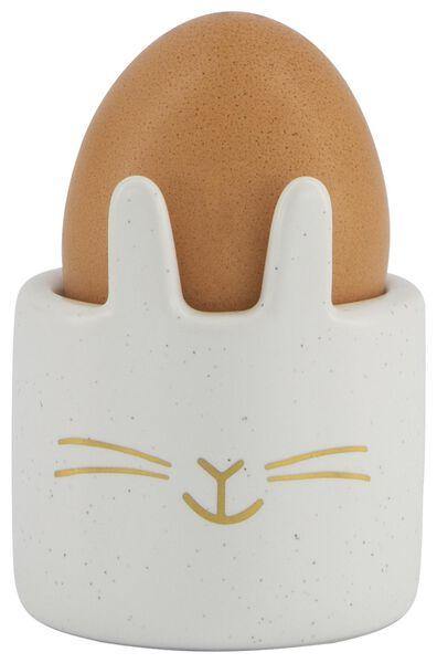 Eierbecher mit Ohren, weiß - 25810115 - HEMA