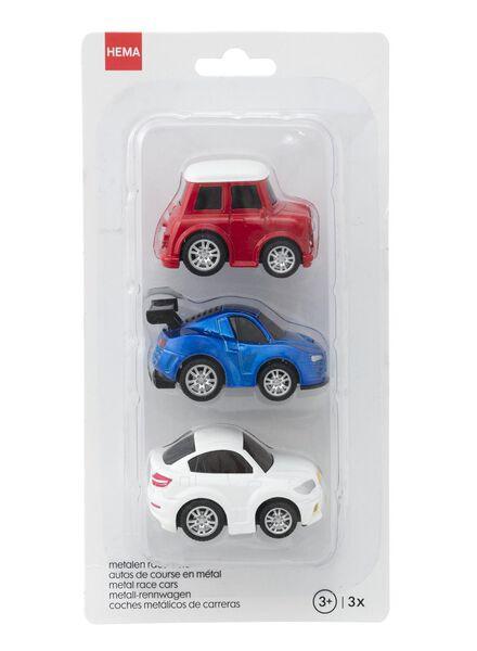 3er-Pack Metall-Rennwagen - 15160107 - HEMA