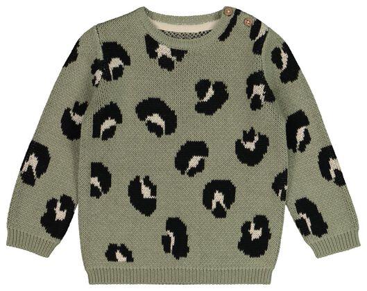 HEMA Baby-Pullover Leopard Grün