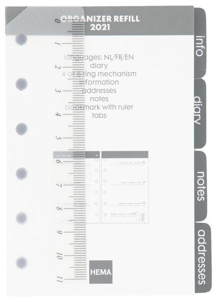recharge d'agenda 2021 - 12.5x8 - multilingue gris - 14622209 - HEMA
