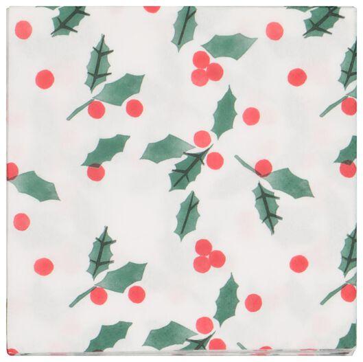 20 serviettes 33x33 paper - holly - 25600160 - hema