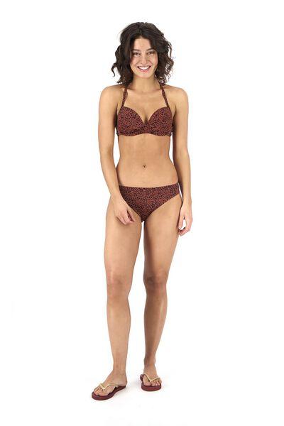 Bademode - HEMA Damen Bikinislip Dunkelrot  - Onlineshop HEMA