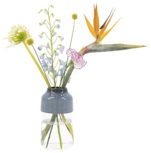 vase Ø13x23cm - verre/faïence - 13322014 - HEMA