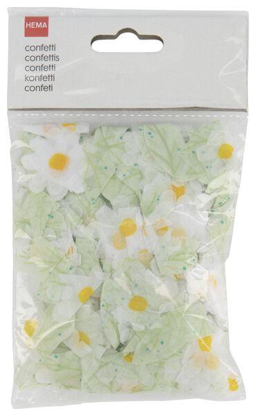 Blumen-Konfetti, weiß/grün - 25800135 - HEMA