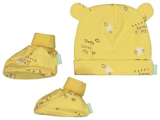"""Babyaccessoires - HEMA Newborn Mütze Und Schühchen """"Daddy"""", Biobaumwolle - Onlineshop HEMA"""