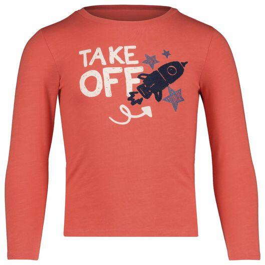 t-shirt enfant corail corail - 1000017733 - HEMA