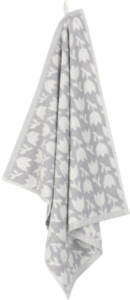 essuie-mains 50x50 tulipe - blanc/gris - 5400154 - HEMA