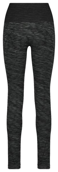 women's sports leggings grey melange grey melange - 1000018879 - hema