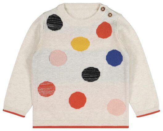 HEMA Baby-Pullover, Punkte Sandfarben