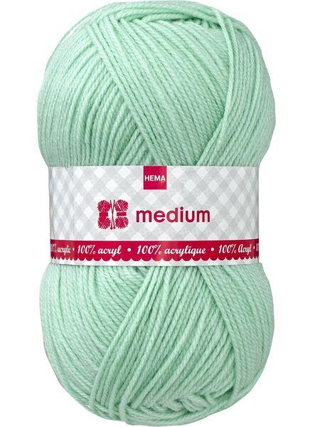 fil à tricoter medium medium 100 g vert clair - 1400051 - HEMA