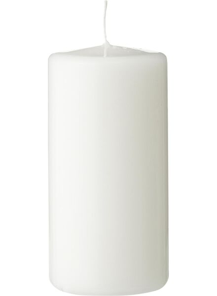 grosse bougie - 12x6 cm - blanc blanc 6 x 12 - 13502286 - HEMA