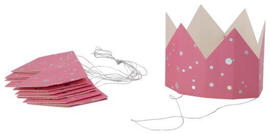 6couronnes en papier rose - 14200536 - HEMA