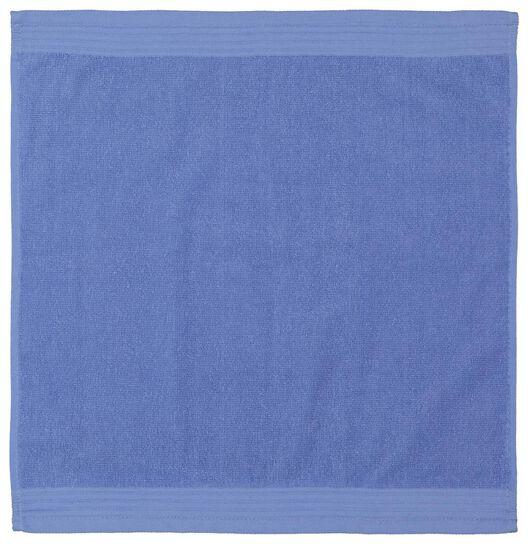 essuie-mains - 50 x 50 - coton - bleu - 5490046 - HEMA