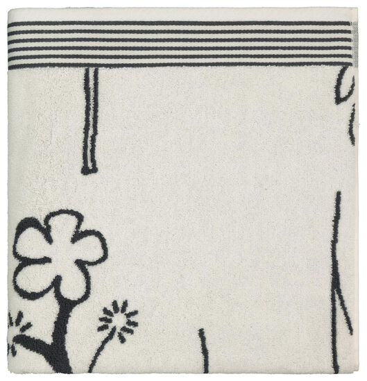 towel heavy quality flower black white white - 1000022813 - hema
