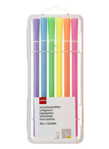 Image of HEMA 12-pack Highlighting Markers