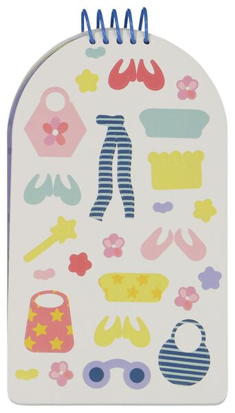 Malbuch mit Aufklebern, Mode-Design - 15950054 - HEMA