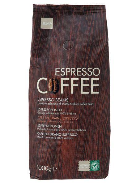 café en grains espresso - 1 kg - 17100003 - HEMA