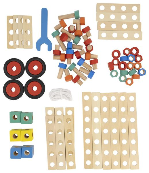 Holz-Bausatz, 80 Teile - 15190288 - HEMA