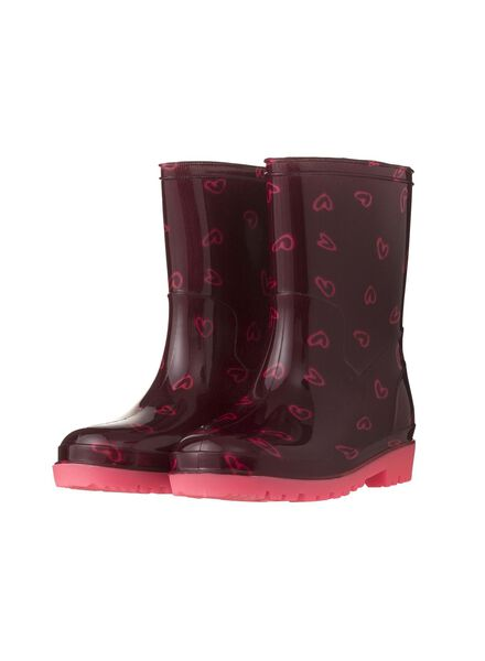 children's rainproof rubber boots red red - 1000006248 - hema