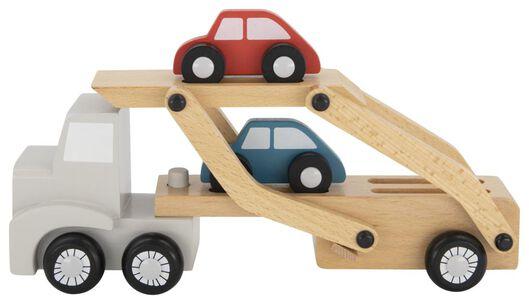 camion avec voitures en bois - 15130112 - HEMA