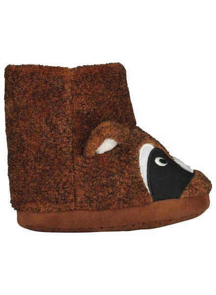 pantoufles enfant marron marron - 1000014408 - HEMA
