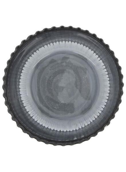 tea light holder - Ø 8.5 cm - ribbed - blue - 13392095 - hema