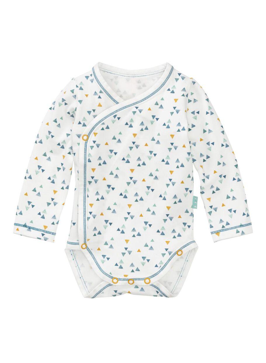 images body croisé pour nouveau-né en coton organique stretch blanc cassé -  1000011138 - HEMA fe033e7be50