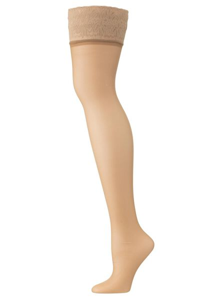 hold ups with lace - matt 15 denier natural natural - 1000000959 - hema
