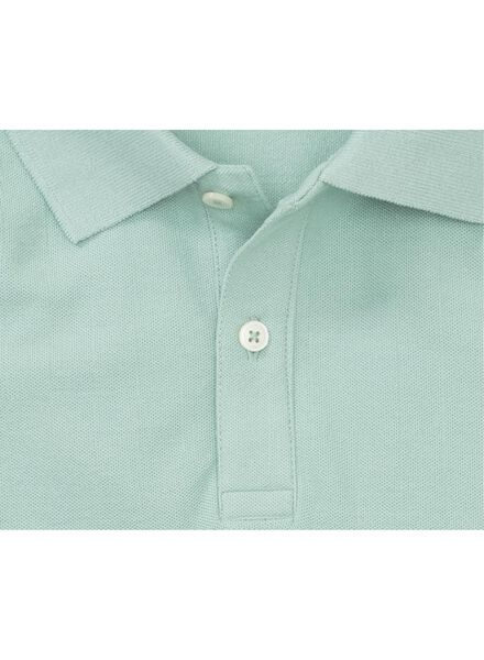 men's polo shirt - organic cotton light green light green - 1000006101 - hema