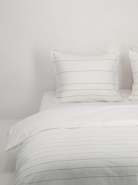 duvet cover - hotel satin cotton white white - 1000018690 - hema