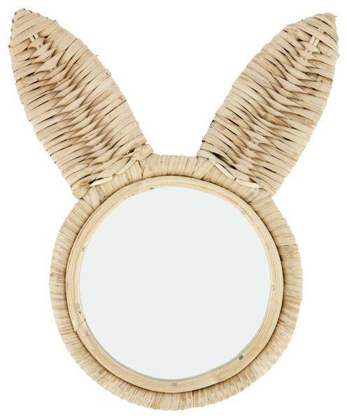 spiegel Ø15cm konijn riet - 13211137 - HEMA