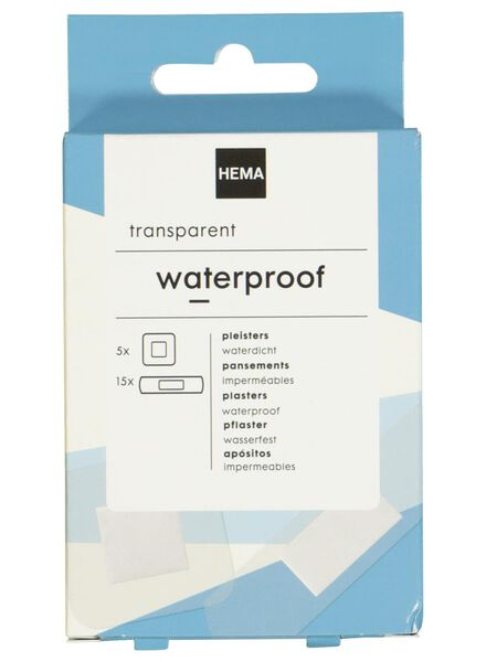 waterproof plasters transparent - 11901902 - hema