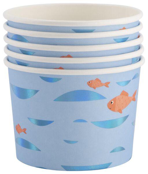 5 pots en papier - 450 ml - sous-marin - 14200323 - HEMA