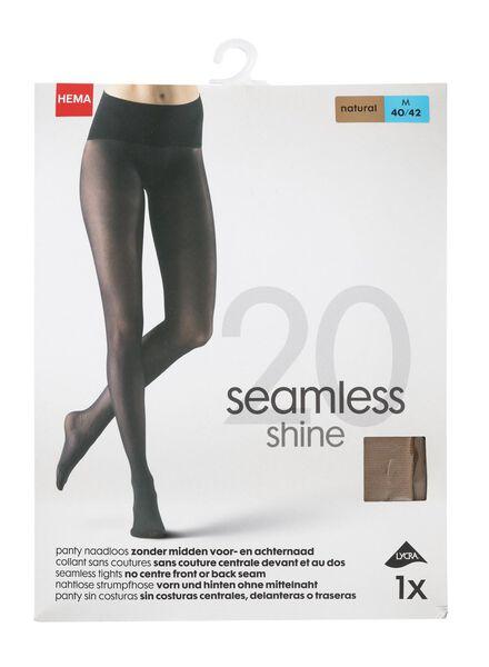 seamless tights 20 denier natural natural - 1000007659 - hema