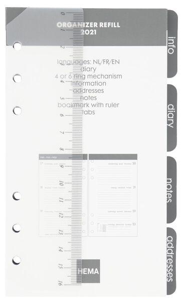 recharge d'agenda 2021 - 17x9.5 - multilingue gris - 14622216 - HEMA