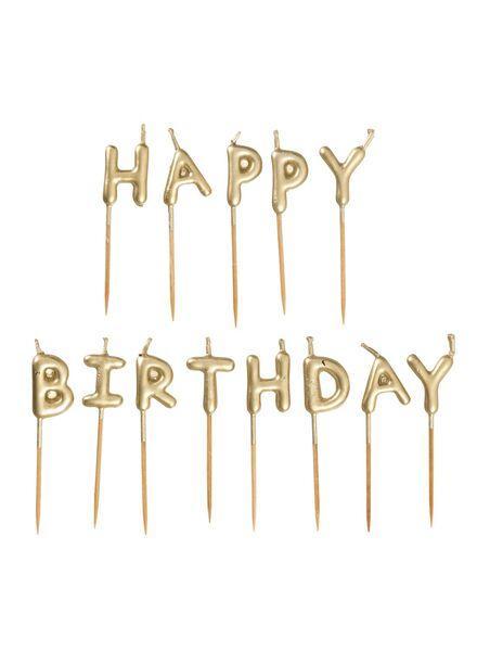Kuchenkerzen Happy Birthday - 14209928 - HEMA