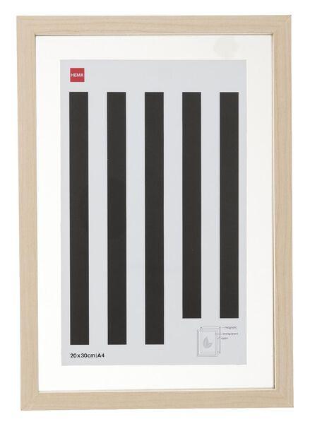 cadre photo bois A4 - aimanté - 13621050 - HEMA