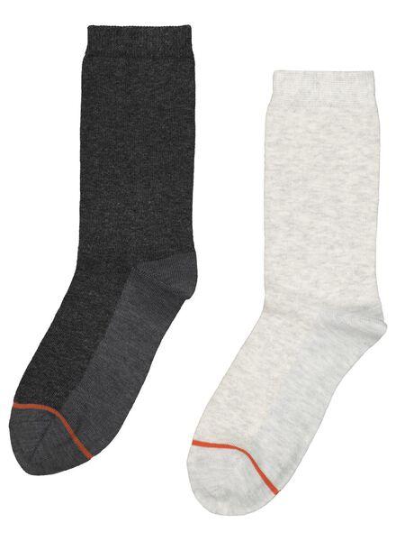 2paires de chaussettes thermo femme gris chiné gris chiné - 1000017003 - HEMA