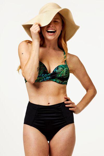 Damen-Bikinislip, High Waist, medium Control schwarz schwarz - 1000017898 - HEMA