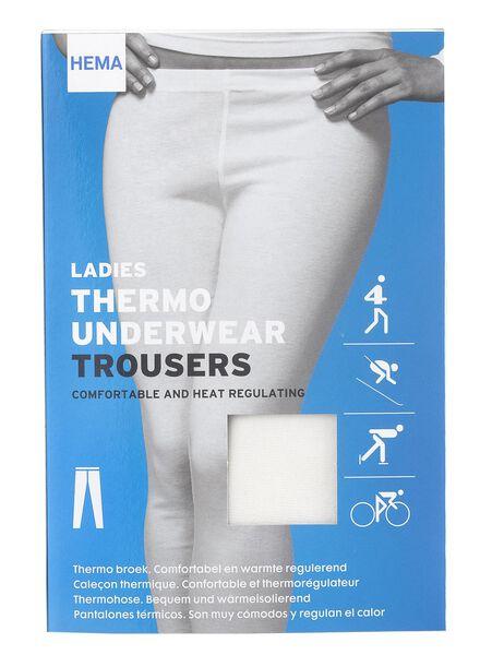HEMA Pantalon Thermique Femme Blanc