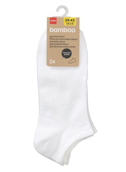 2-pack women's ankle socks bamboo white white - 1000007252 - hema