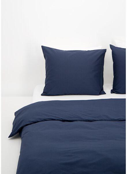 housse de couette - coton doux - uni bleu foncé bleu foncé - 1000016594 - HEMA