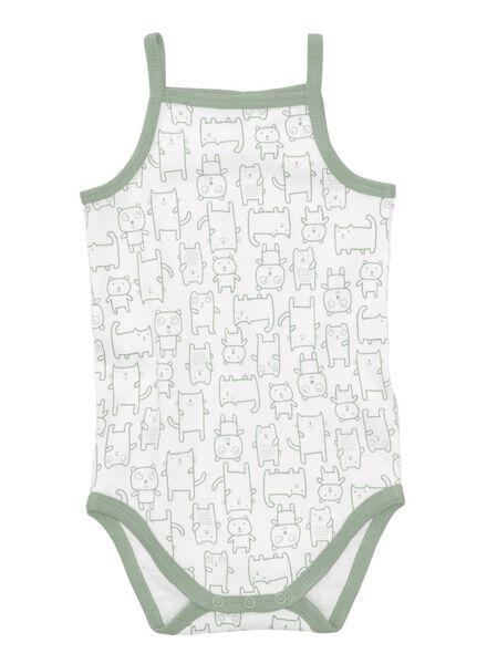 4-pack baby bodysuits white white - 1000007971 - hema