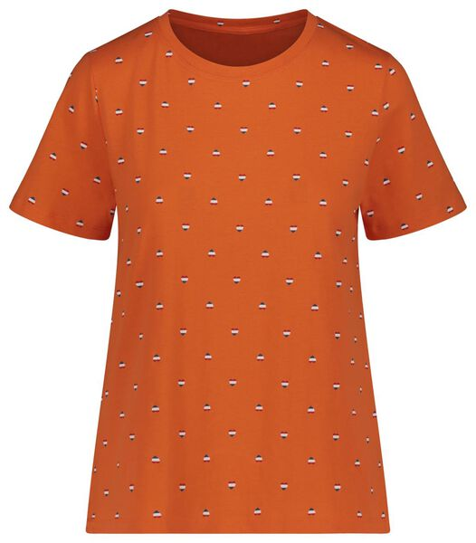 women's T-shirt orange orange - 1000019579 - hema
