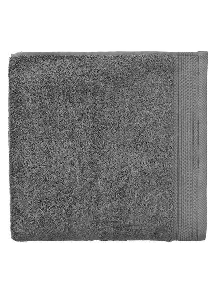 serviette de bain - 100 x 150 cm - qualité hôtel - gris foncé - 5290053 - HEMA