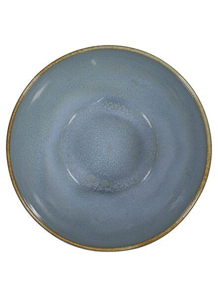 schaal 14 cm - Porto reactief glazuur - ocean blue - 9602026 - HEMA